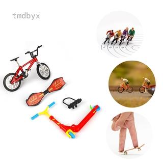 4Pcs Mini Finger Board Skateboard Bike Scooter Set Boy Kids Children Party Toys