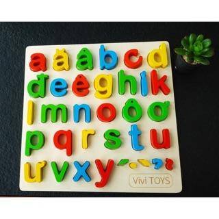 Bảng chữ, số, hình nổi 30x30x2cm