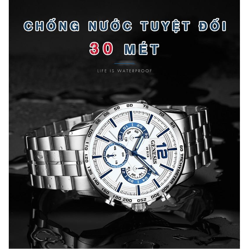 Đồng Hồ Nam GENESIS 8845 Mặt 3D Siêu Đẹp - Chống Nước Tốt