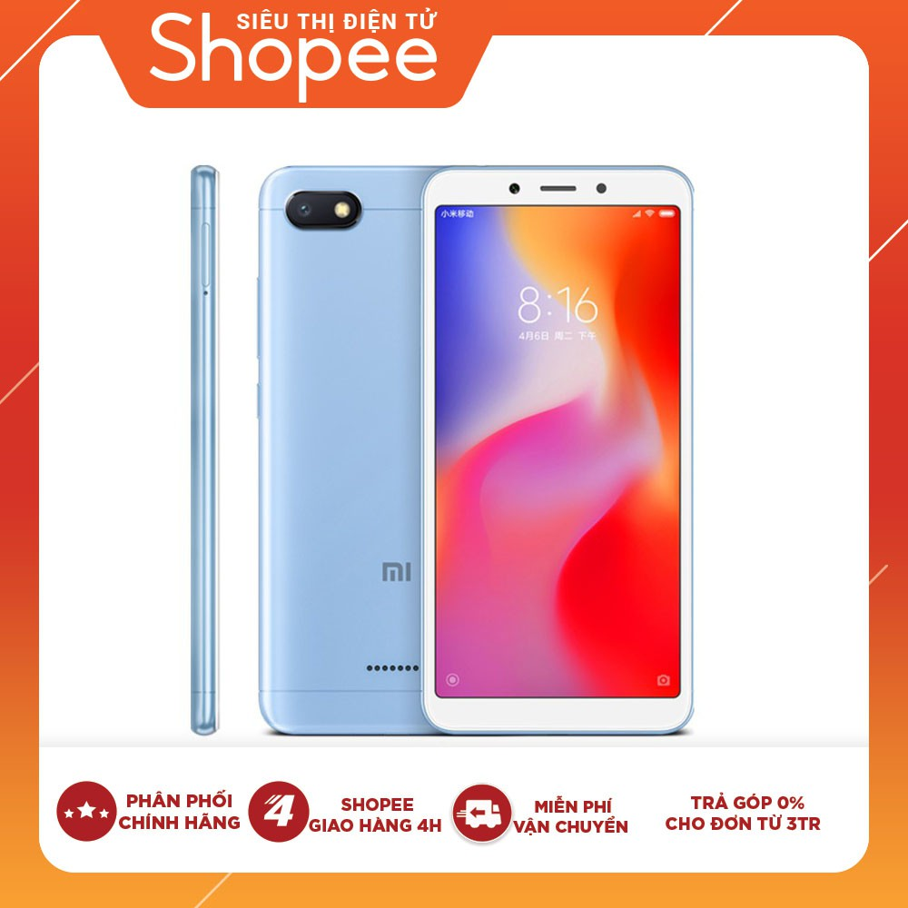 Điện Thoại Xiaomi Redmi 6 (4GB/64GB) - Hàng Chính Hãng DGW
