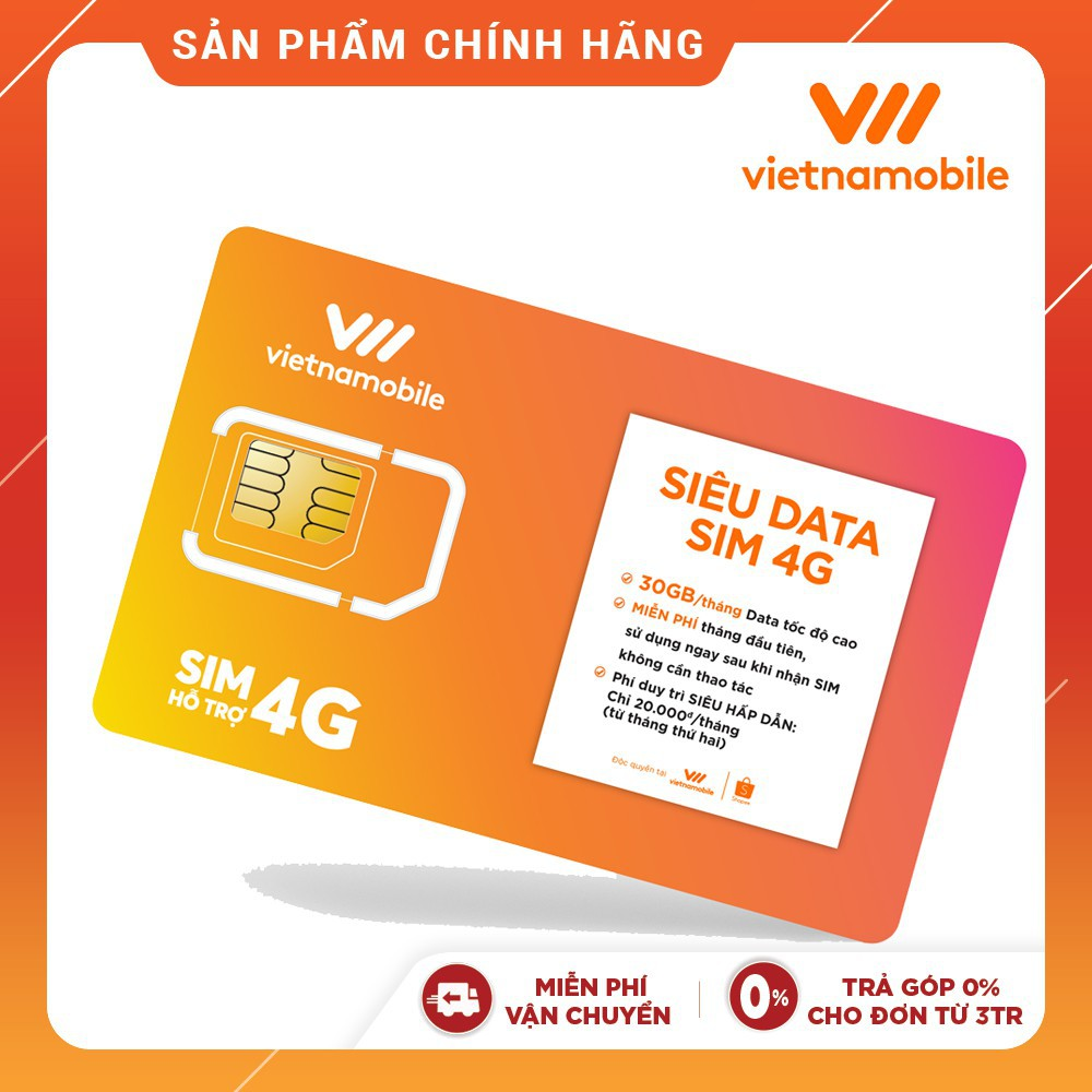 Sim Vietnamobile tài khoản 39k - Kho Sim Giá Rẻ