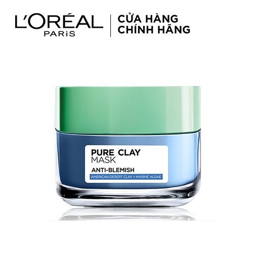 [COSMALL05 -8% ĐH250k]Mặt nạ đất sét thanh lọc da L'Oreal Paris Pure Clay Mask 50g