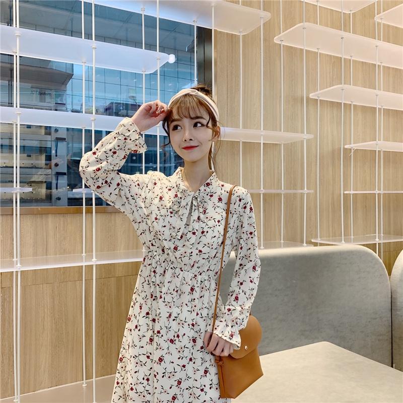 long sleeve summer maxi dress Long Sleeve Elegant Top jumpsuit   promotion Women Floral Dress  sexy korean dress