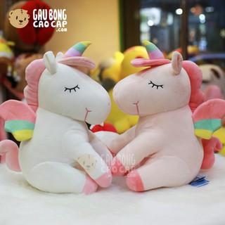 Gấu Bông Kì Lân Unicorn ngồi lông mịn – Shop Gấu Bông Unicorn – gaubongcaocap
