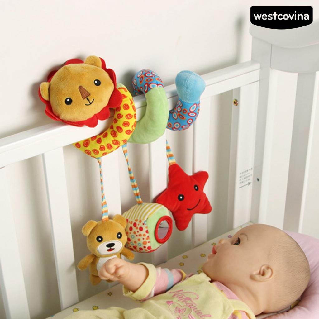 WEST 🔥Rattle Toy Cute Sound Effect Design Stuffed Cartoon Hanging for Newborn