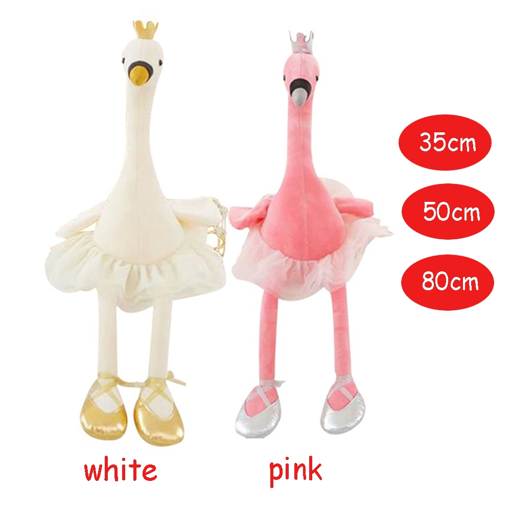 Home Decor Christmas Gift Kids Cute Baby infant Ballet Swan Plush Toys