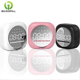 Loa Bluetooth Basspal Q12 Mặt Tráng Gương Đồng Hồ LED Hỗ Trợ Thẻ TF Kiêm Máy Nghe Nhạc/Giá Đỡ Điện Thoại/Đài Radio FM