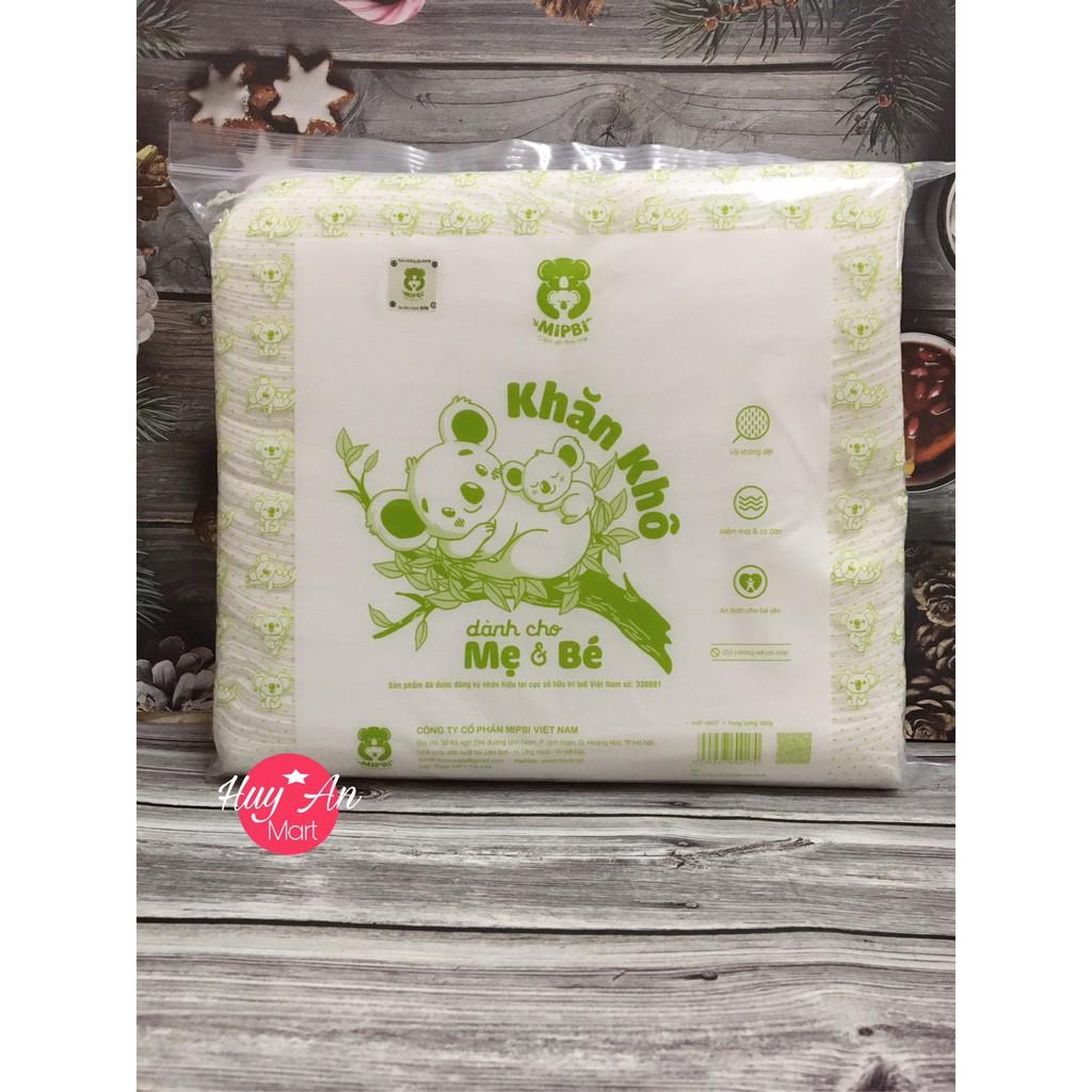 Khăn giấy khô đa năng Mipbi 600gram,900gr an toàn cho bé ✴️HÀNG CHÍNH HÃNG✴️  Khăn khô đa năng MỀM MIN NHƯ LÀN DA EM BÉ