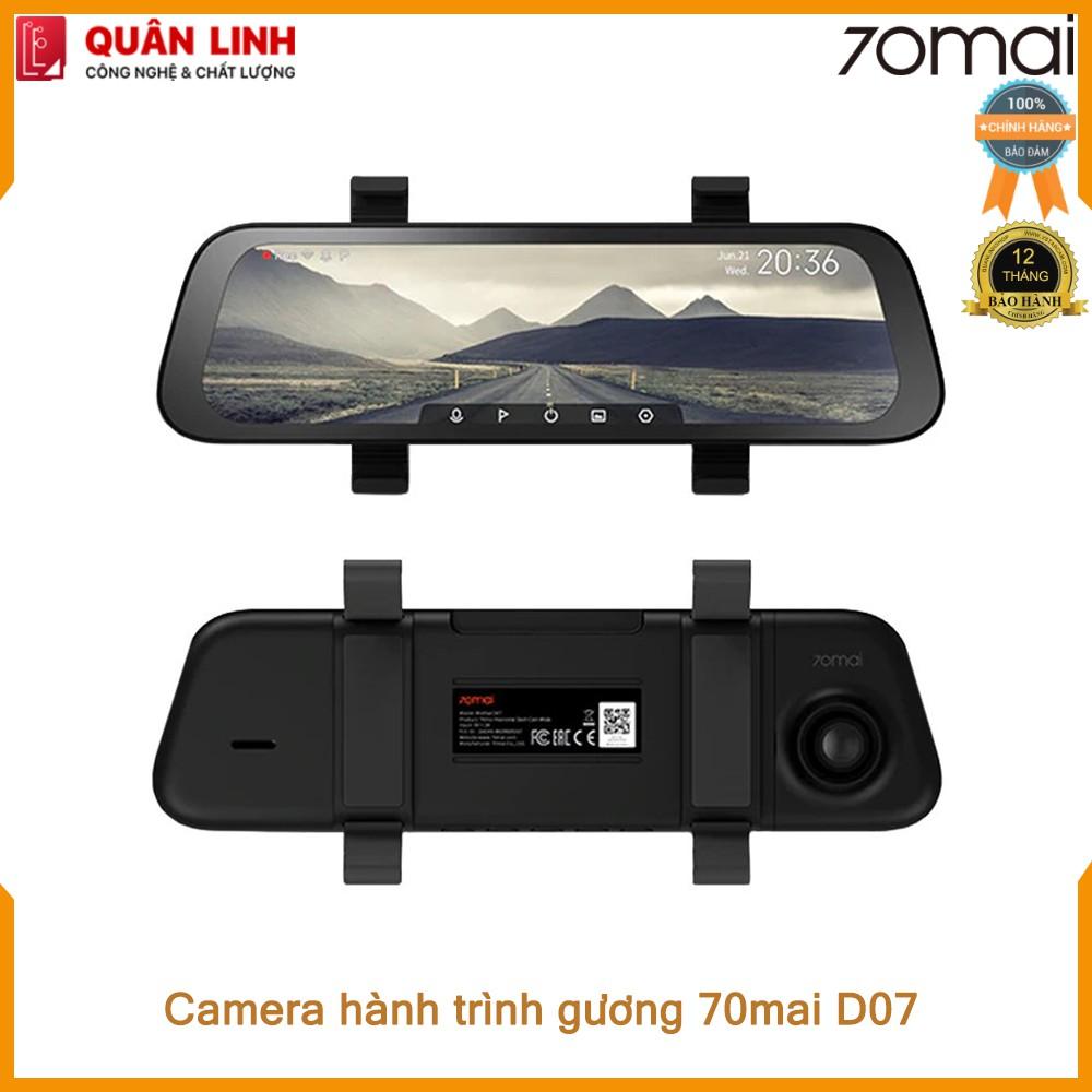 Camera hành trình 70mai Rearview Dash Cam Wide D07