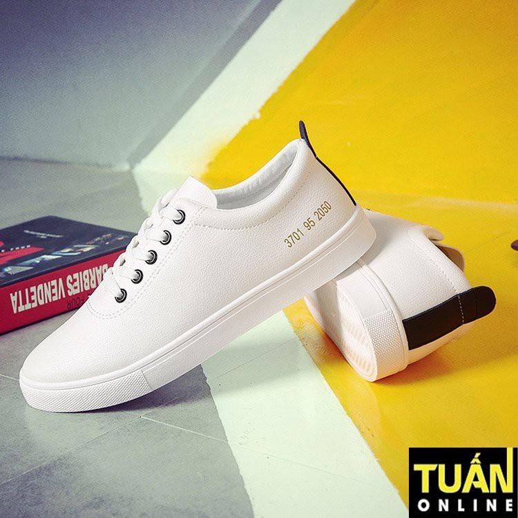 Giày da nam màu trắng | Giày sneaker nam