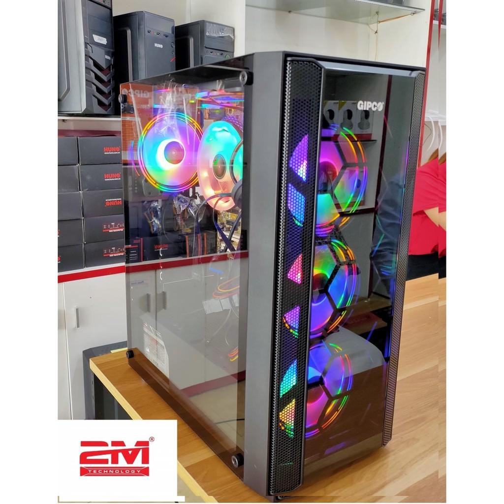 Vỏ Case GIPCO 5986 LF kèm sẵn 3 fan LED