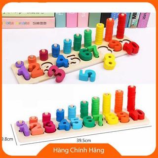 Bộ đồ chơi xếp số bằng gỗ_Hàng chất lượng cao