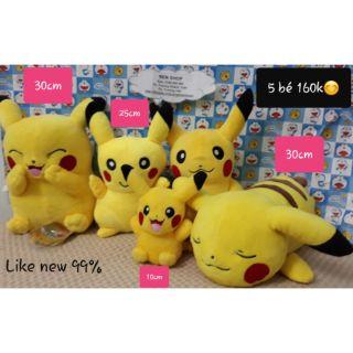 Set gấu bông 5 bé pikachu – 160k chi tiết trên hình