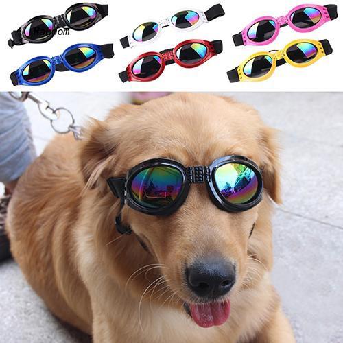 [RA]Dog's Fashion UV Protection Foldable Sunglasses Goggles with Adjustable Strap