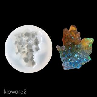 Stone Iceberg Shape Silicone Mould for DIY Crystal Ornaments Resin Casting