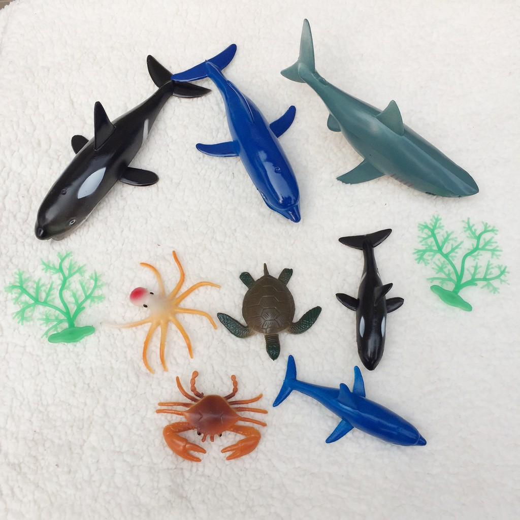 Mô hình sinh vật biển bằng nhựa dẻo Safari gồm 10 chi tiết