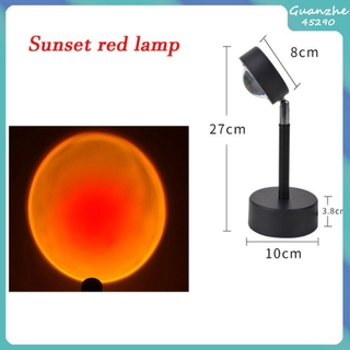 Usb Sunset Rainbow Red Projector Led Sun Projection Night Bar Wall Store Bedroom Decoration Light For Coffee Lighting