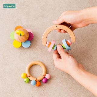 Màu sắc đồ chơi bằng gỗ Pendant Baby di động gỗ mềm trẻ sơ sinh Crib giường xe đẩy đồ chơi xoắn ốc em bé đồ chơi thumbnail