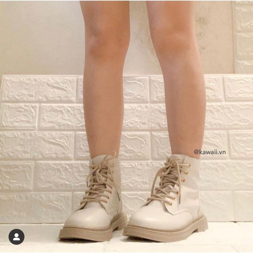 [Có sẵn] Giày Milky BOOTS cổ cao màu kem sữa (ảnh thật shop tự chụp)