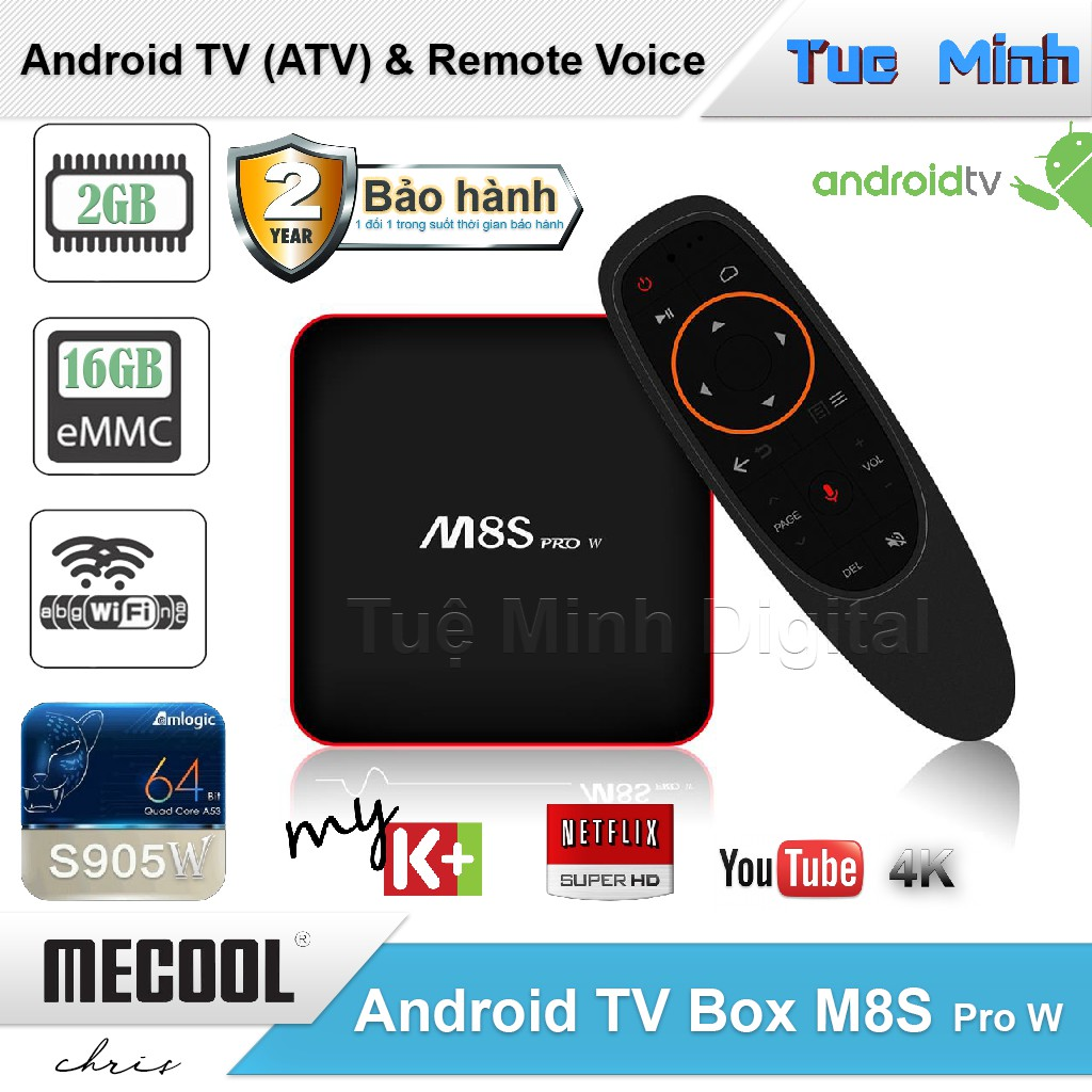 Android TV Box M8s Pro W - AndroidTV OS, Điều khiển Voice, S905W, Ram 2G, Rom 16G - 9974920 , 1234591061 , 322_1234591061 , 990000 , Android-TV-Box-M8s-Pro-W-AndroidTV-OS-Dieu-khien-Voice-S905W-Ram-2G-Rom-16G-322_1234591061 , shopee.vn , Android TV Box M8s Pro W - AndroidTV OS, Điều khiển Voice, S905W, Ram 2G, Rom 16G