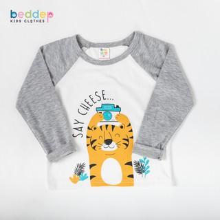 Áo thun dài tay Beddep Kids Clothes in hình cho bé trai từ 1 đến 8 tuổi B14 thumbnail