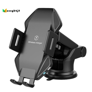 `Qi Wireless Car Charger 10W Press Sensing Fast Charging for iPhone Max Xs Intelligent Car Wireless Charger Phone Holder