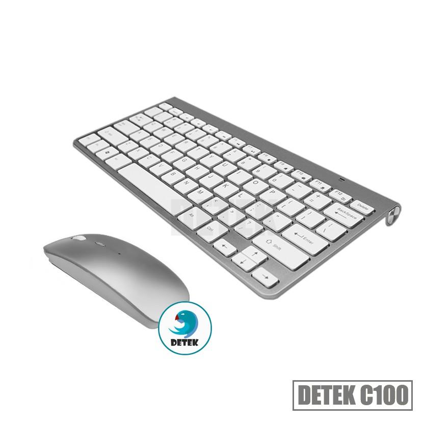 Combo bàn phím và chuột không dây thời trang Detek C100 màu bạc - 3333055 , 691576518 , 322_691576518 , 299000 , Combo-ban-phim-va-chuot-khong-day-thoi-trang-Detek-C100-mau-bac-322_691576518 , shopee.vn , Combo bàn phím và chuột không dây thời trang Detek C100 màu bạc