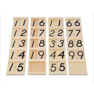 Bảng hàng chục loại to có hộp đựng – Giáo cụ Montessori (Teens & Tens Board)
