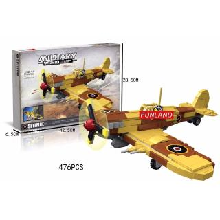 Building Blocks Classic Military Ww2 England Spitfire Fighter Kids Educational Toys Lego Compatible Birthday Gift