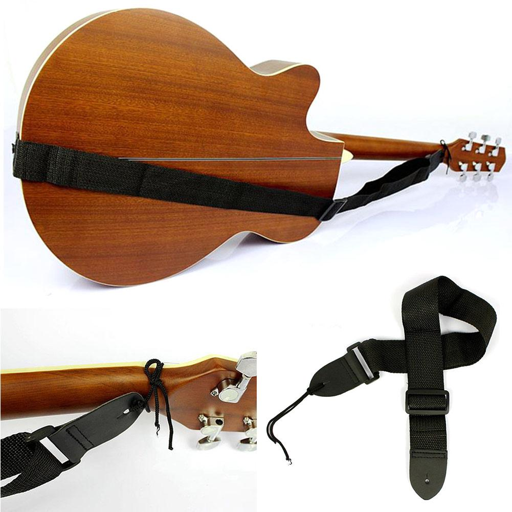 2x Simple Nylon Adjustable Belt Acoustic Electric Guitar Strap Black Hot