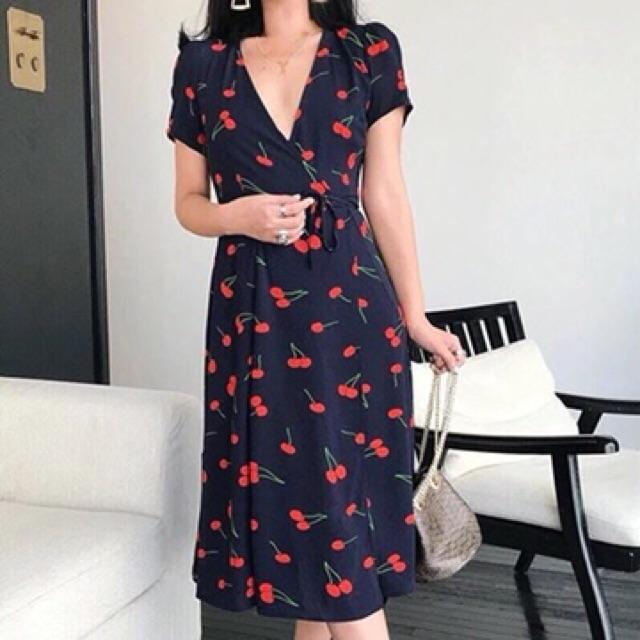 [CÓ SẴN] Đầm maxi hình trái cherry thấy là yêu