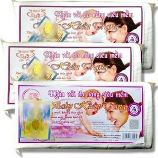 Combo 3 gói khăn vải khô Hiền Trang (160 tờ/gói)