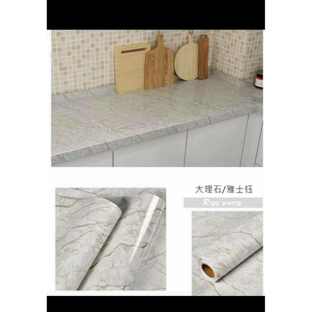 Giấy dán tường VÂN ĐÁ, miếng dán bếp chống bắn dầu mỡ,DECAL DÁN BẾP chịu nhiệt rộng 60cm X 3M