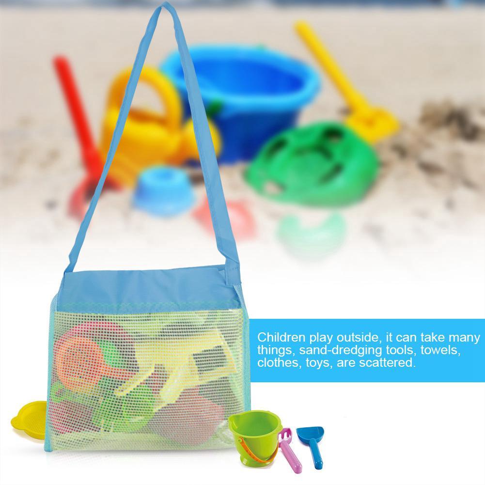 Creative Folding Child Beach Mesh Bag Storage Bag Toys Bag