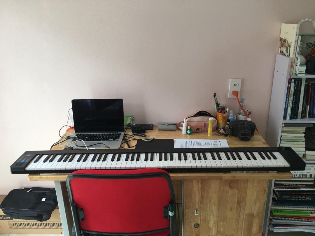 Gấp Gọn] Đàn Piano Điện Konix PJ88B - 88 Phím Cảm Ứng Lực (Pin sạc, Bluetooth, Pedal sustain PJ88, Bao Đựng)   Shopee Việt Nam