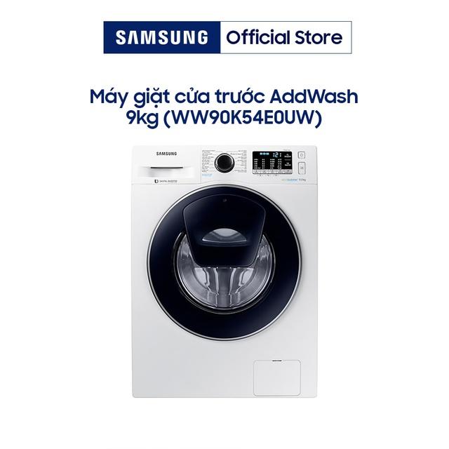 Miễn phí công lắp đặt_Máy Giặt Samsung Inverter Addwash WW90K54E0UW/SV (9kg)