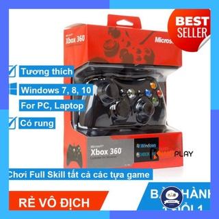 Tay cầm Chơi Game Microsoft Xbox 360 Full box Có Rung - Tay Cầm Có Dây Dùng Cho PC, Laptop chơi full skill FO4, FO3 thumbnail