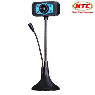 Webcam KM 720p HD hình ảnh và micro trên 1 đầu USB - tích hợp 4 đèn led trợ sáng (nhiều màu) thumbnail