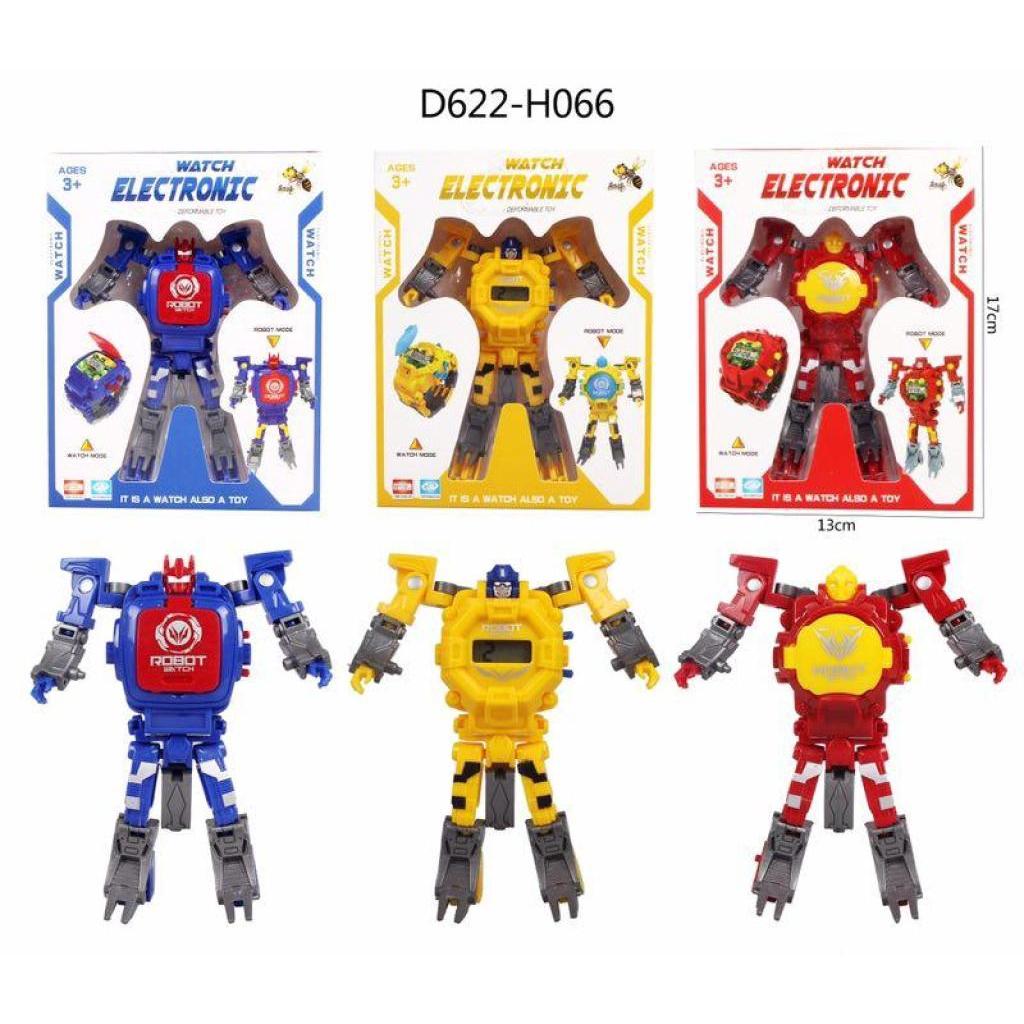 นาฬิกาของเล่นแปลงร่าง นาฬิกาหุ่นยนต์ SK-1103-1,เด็กนาฬิกาอิเล็กทรอนิกส์ดิจิตอลหุ่นยนต์แปลงร่างของเล่นสำหรับ 3-12 ปีชายหญ