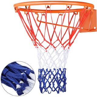 Heavy Duty Basketball Net Replacement All Weather Basketball Net Fits Standard Indoor or Outdoor, 12 Loops Training Replacement Basketball Net (Red, White, Blue) thumbnail