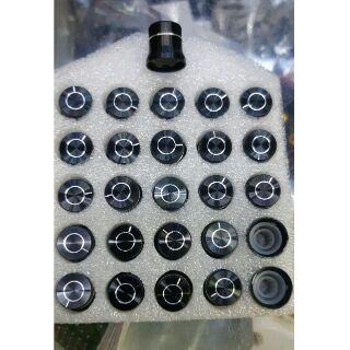 Nút ampli nhôm đen có viền - giá 1 bộ gồm 26 nút 70k - đường kính 15mm