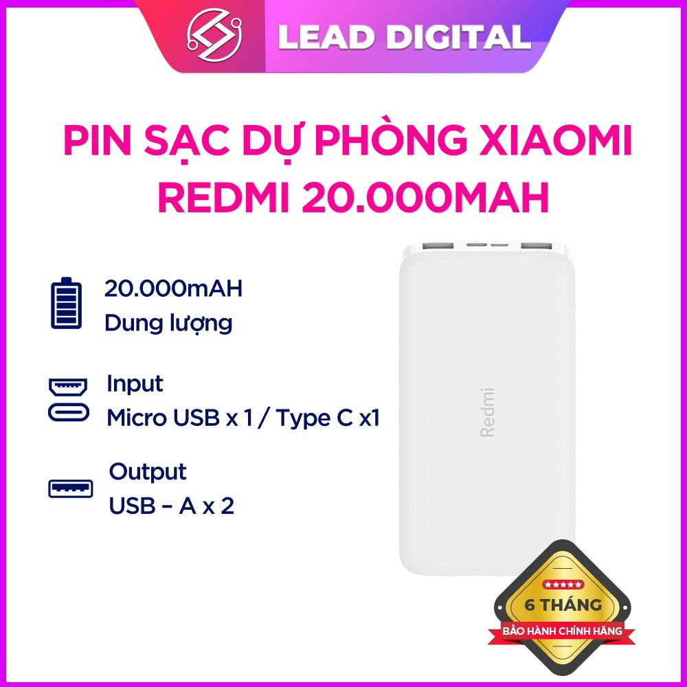 Pin sạc dự phòng Xiaomi Redmi 20000mAh / 10.000mAh Hỗ trợ Sạc nhanh 18W - Bảo hành chính hãng 6 tháng