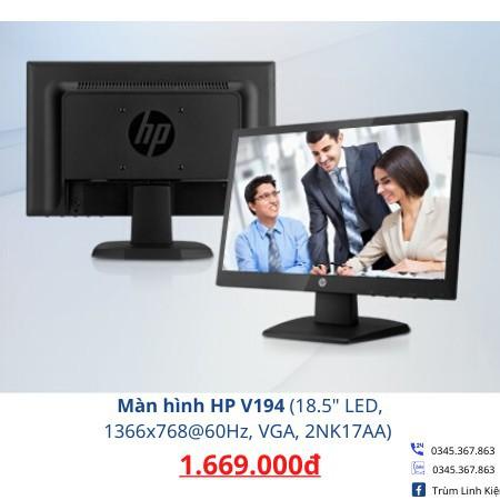 """Màn hình HP V194 (18.5"""" LED, 1366x768@60Hz, VGA, 2NK17AA). Hàng chính hãng bảo hành 24 tháng."""