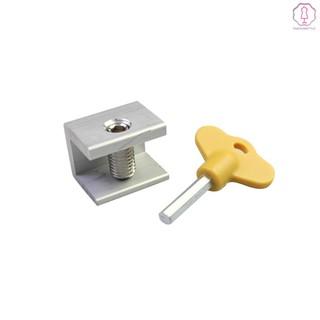 1 Pcs Adjustable Sliding Window Lock Stopper Door Frame Security Locks With Key