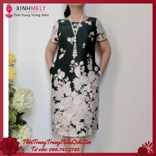 Đầm Suông Trung Niên Cao Cấp Vải Xleo – Đủ size từ 48kg đến 90kg
