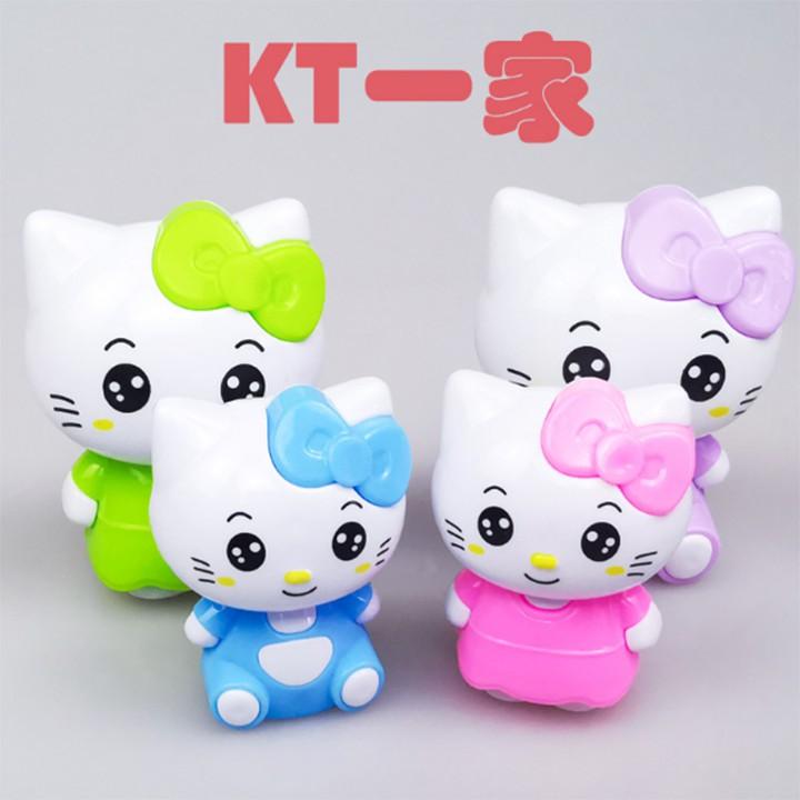 Combo 10 túi 40 mèo kitty trang trí bánh kem, phụ kiện trang trí bánh, topper cake