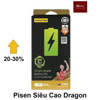 Pin PISEN Siêu cao Dragon Nội Địa cho Iphone 6,6s,6Plus,6SPlus,7,7Plus,8,8Plus – Chính hãng BH 12T
