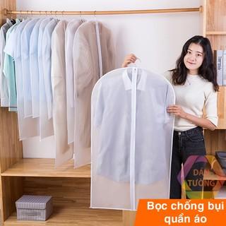 Túi bọc quần áo treo tủ chống bụi , túi bọc trùm quần áo loại dày, có khóa, chống thấm – Sắp xếp tủ quần áo _TB