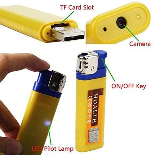 Camera Ngụy Trang Hình Bật Lửa Hong Kong Electronics VH538 (Vàng)