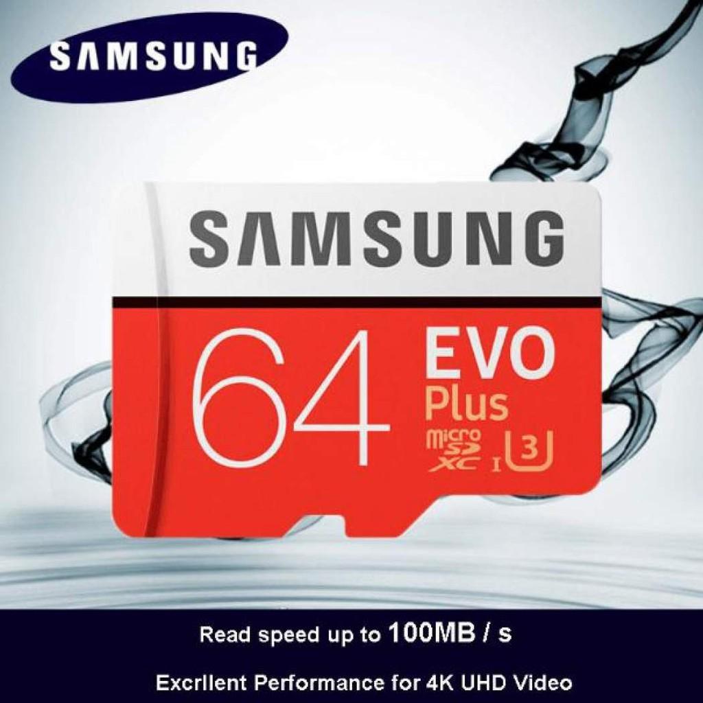 [SỈ] Thẻ Nhớ 64GB Samsung Plus U3 Class10 4K 100Mb/S Tốc Độ Cao[RẺ] - - -Tongkho00